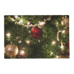 Christmas Tree I Holiday Pretty Green and Red Placemat