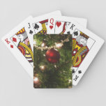 Christmas Tree I Holiday Pretty Green and Red Playing Cards