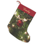 Christmas Tree I Holiday Pretty Green and Red Small Christmas Stocking