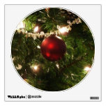 Christmas Tree I Holiday Pretty Green and Red Wall Decal