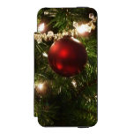 Christmas Tree I Holiday Pretty Green and Red Wallet Case For iPhone SE/5/5s