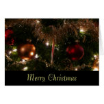 Christmas Tree II Custom Holiday (Blank Inside) Card