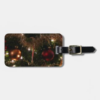 Christmas Tree II Holiday Candy Cane and Tinsel Bag Tag