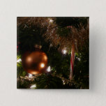 Christmas Tree II Holiday Candy Cane and Tinsel Button