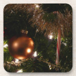 Christmas Tree II Holiday Candy Cane and Tinsel Coaster