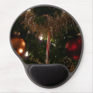 Christmas Tree II Holiday Candy Cane and Tinsel Gel Mouse Pad