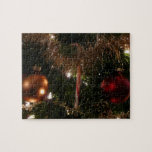 Christmas Tree II Holiday Candy Cane and Tinsel Jigsaw Puzzle