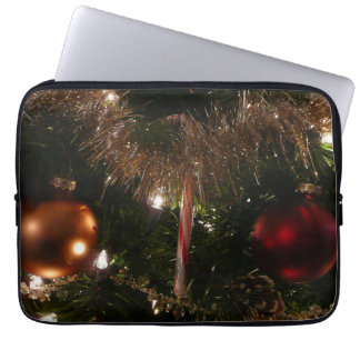 Christmas Tree II Holiday Candy Cane and Tinsel Laptop Computer Sleeves