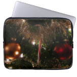 Christmas Tree II Holiday Candy Cane and Tinsel Laptop Sleeve