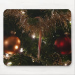 Christmas Tree II Holiday Candy Cane and Tinsel Mouse Pad