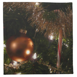 Christmas Tree II Holiday Candy Cane and Tinsel Napkin