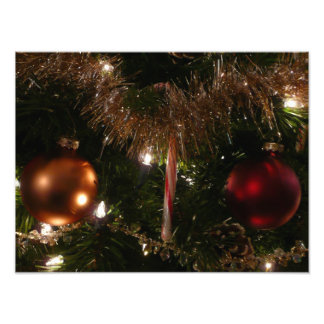 Christmas Tree II Holiday Candy Cane and Tinsel Photo Print