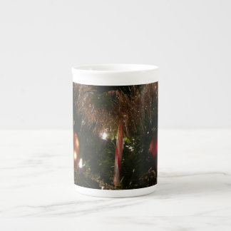 Christmas Tree II Holiday Candy Cane and Tinsel Tea Cup