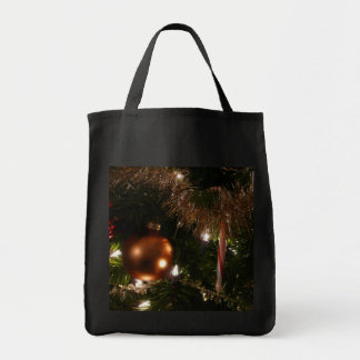 Christmas Tree II Holiday Candy Cane and Tinsel Tote Bag