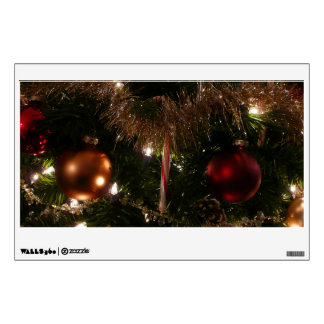 Christmas Tree II Holiday Candy Cane and Tinsel Wall Decal