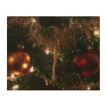 Christmas Tree II Holiday Candy Cane and Tinsel Wood Wall Art
