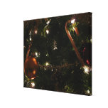 Christmas Tree III Holiday Candy Cane and Ornament Canvas Print