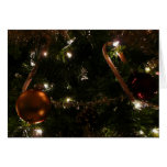 Christmas Tree III Holiday Candy Cane and Ornament Card