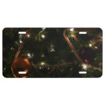 Christmas Tree III Holiday Candy Cane and Ornament License Plate