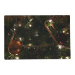 Christmas Tree III Holiday Candy Cane and Ornament Placemat