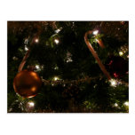 Christmas Tree III Holiday Candy Cane and Ornament Postcard
