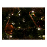 Christmas Tree III Holiday Candy Cane and Ornament Poster