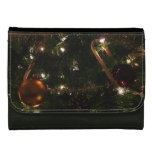 Christmas Tree III Holiday Candy Cane and Ornament Wallets For Women