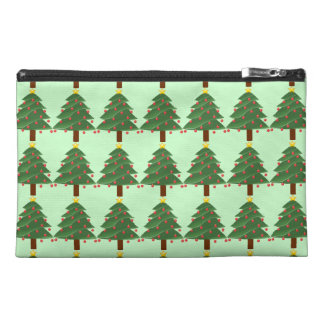 Christmas Tree Illustration Travel Accessories Bag
