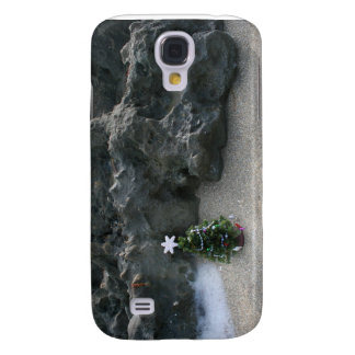 Christmas Tree In Front Of Rocks.jpg Samsung Galaxy S4 Cover