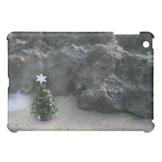 Christmas Tree In Front Of Rocks.jpg iPad Mini Case