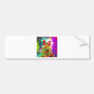 Christmas Tree in full colors Bumper Sticker