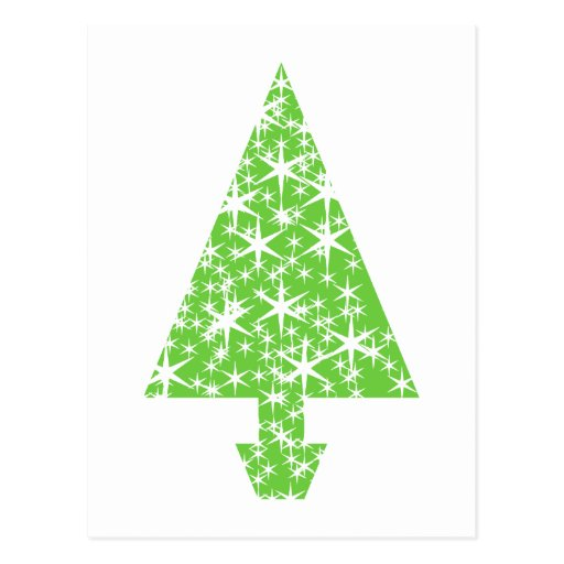 Christmas Tree in Green and White. Postcards