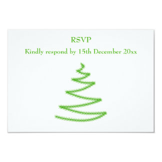 Christmas Tree in Green, Simple and Stylish. Card