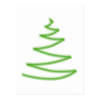 Christmas Tree in Green, Simple and Stylish. Postcard