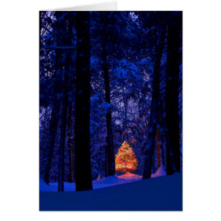 Christmas Tree In Lights Greeting Card