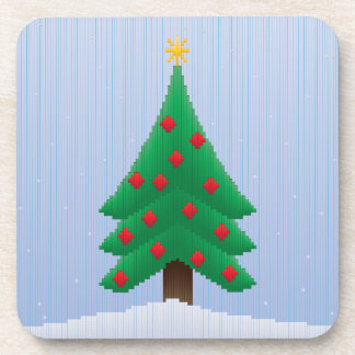 Christmas Tree in Stripes Drink Coaster