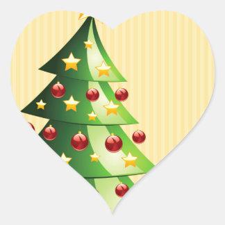 Christmas tree interior heart sticker