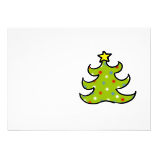 Christmas tree personalized invite