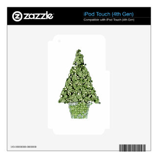 Christmas Tree iPod Touch 4G Decal