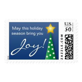 Christmas Tree Joy Holiday Postage Stamp