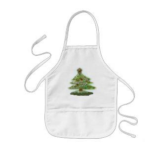 Christmas tree kids' apron