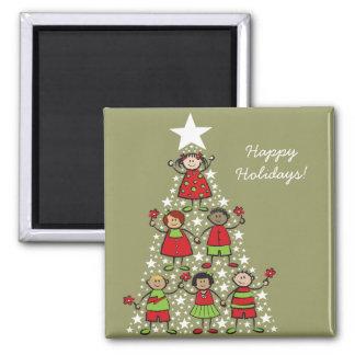Christmas Tree Kids Holiday Gift Magnet