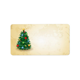 Christmas tree, labels