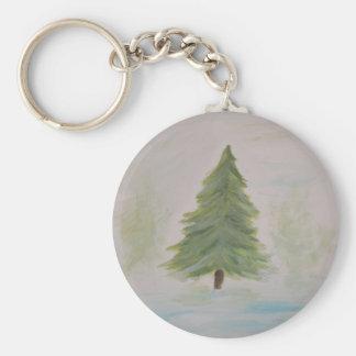 Christmas Tree landscape image Key Chains