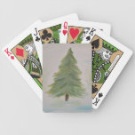 Christmas Tree landscape image Bicycle Playing Cards