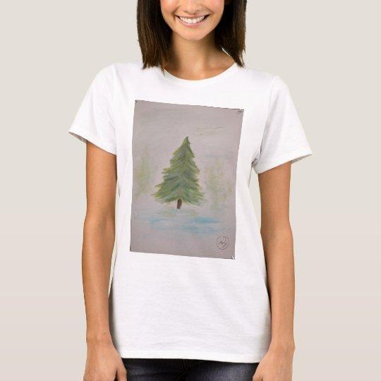 Christmas Tree landscape image T-Shirt