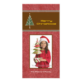 Christmas tree & light photocard photo card