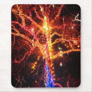 Christmas Tree Lights Abstract Mouse Pad