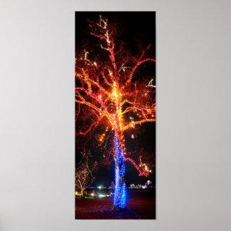 Christmas Tree Lights Abstract Posters