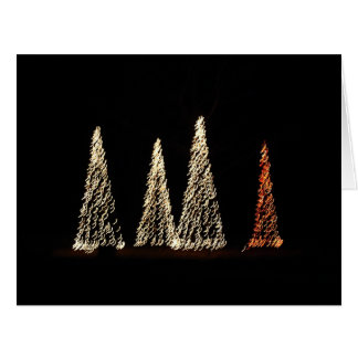 Christmas tree lights BIG card